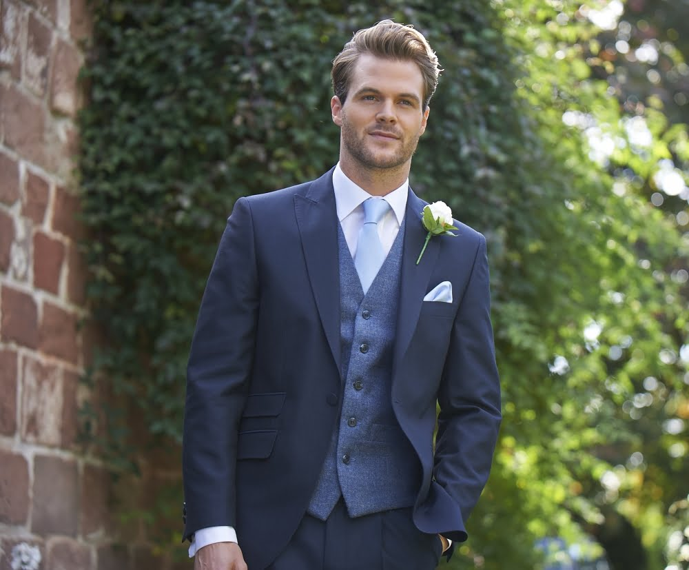Navy Blue Suit With Waistcoat - Go Suits