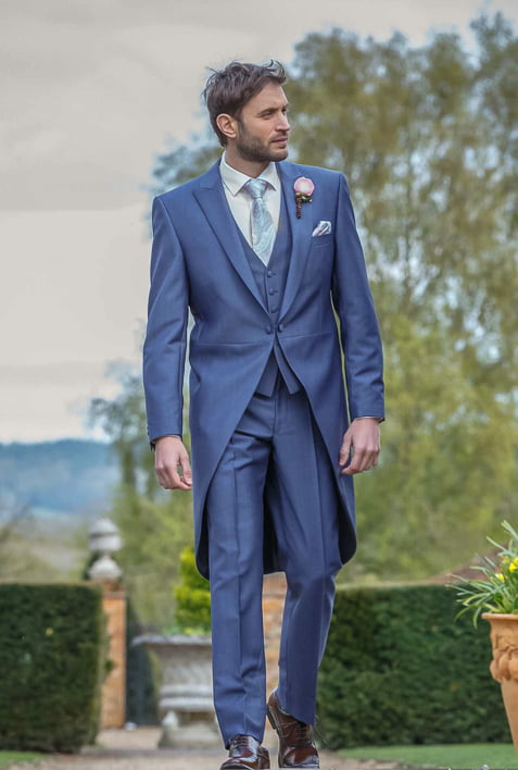 Avant Garde Grooms Airforce Blue Morning suit