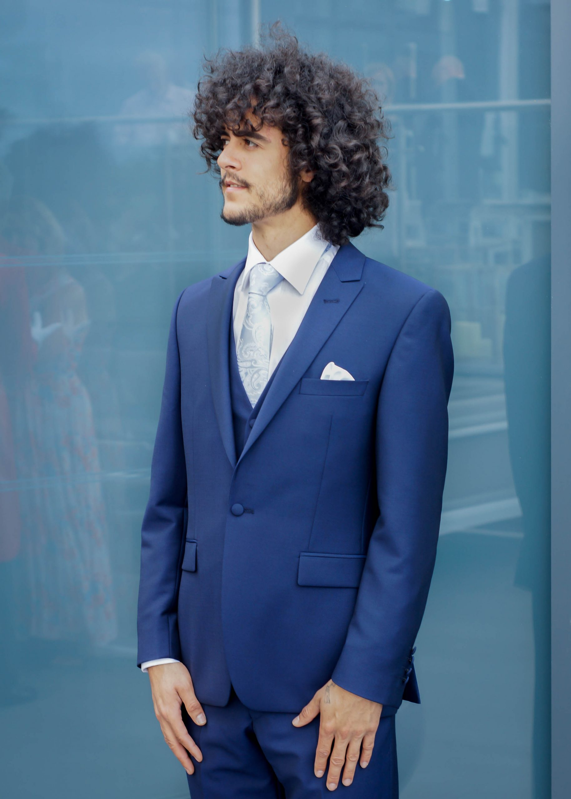 HIRE5 Swell Premim French Navy Grooms Suit