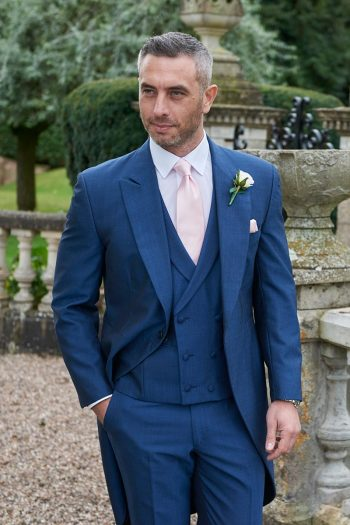 Suave Royal Blue Morning Suit