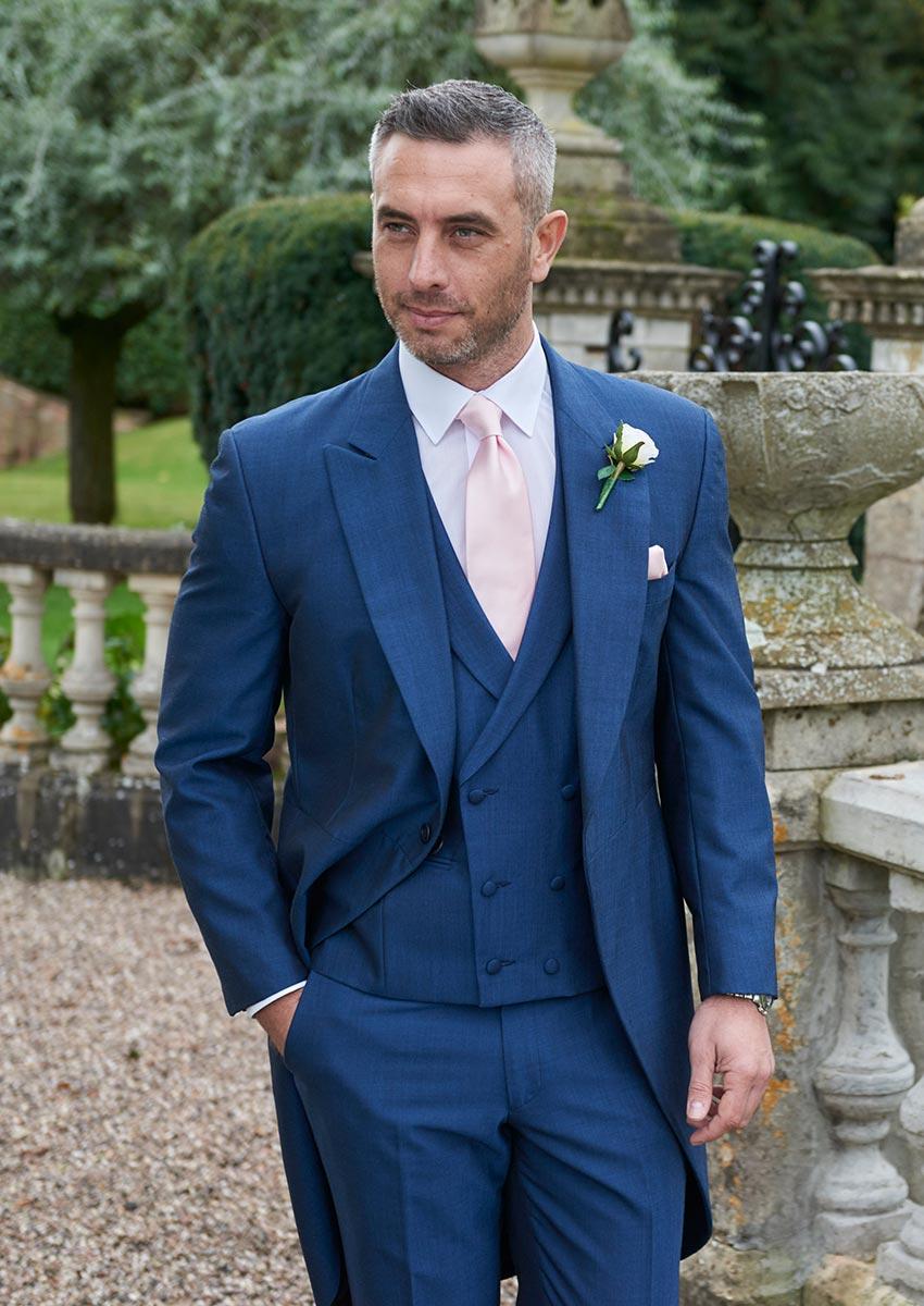 Suave Royal Blue Morning Suit