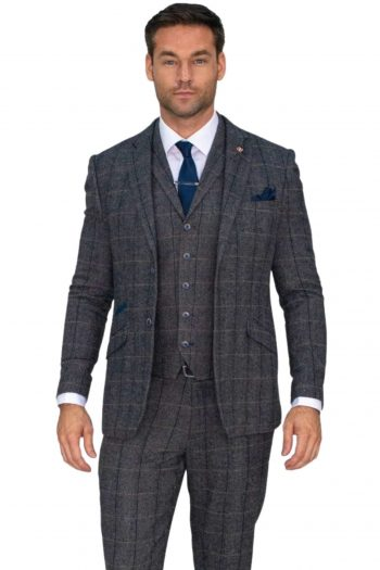 Grey Tweed Grooms Suit
