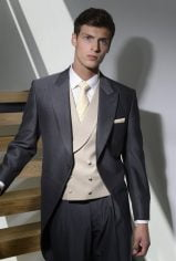 Gold Beige Pure Wool Double Breasted Waistcoat