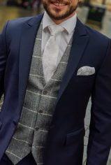 Heirloom Tweed Grey Ivory Waistcoat