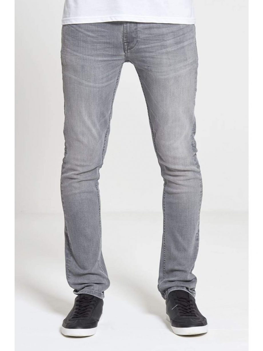 ACE Slim Stretch Jeans In Light Grey - Jeans