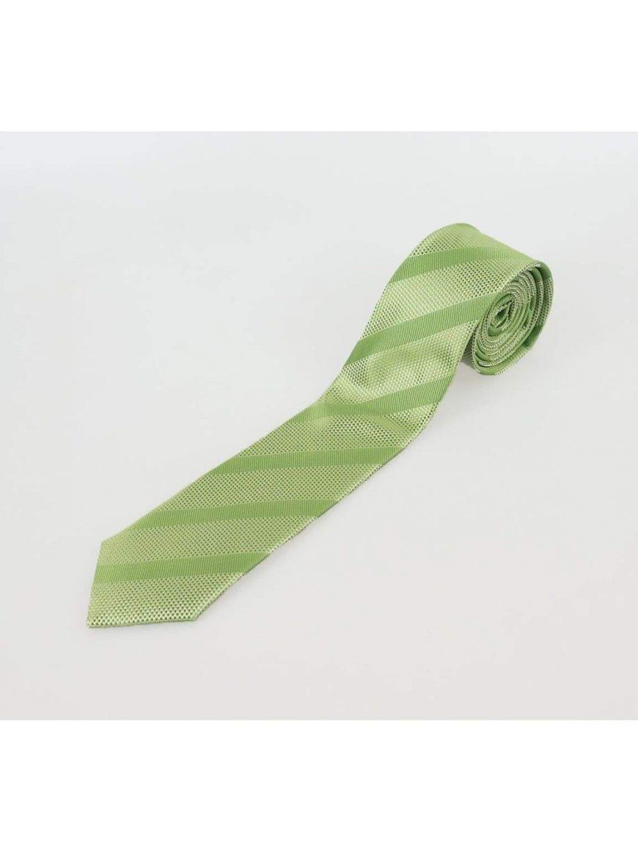 Apple Green Stripe Tie Set - Accessories