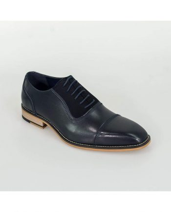 Arkin Navy Leather Shoes by House of Cavani - Shoes