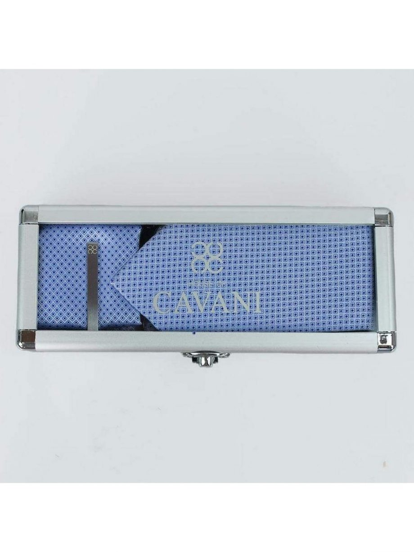 Blue Diamond Tie Hank Tie Pin Cufflinks Set - Accessories