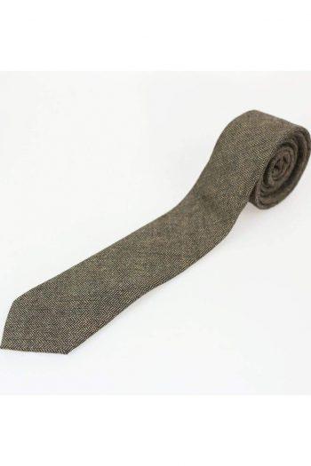 Brown Tweed Tie Set - Accessories