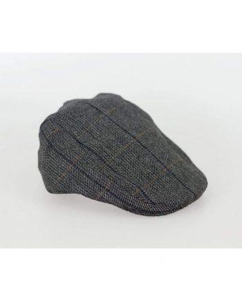 Cavani Albert Grey Check Flat Cap - S/M - Accessories