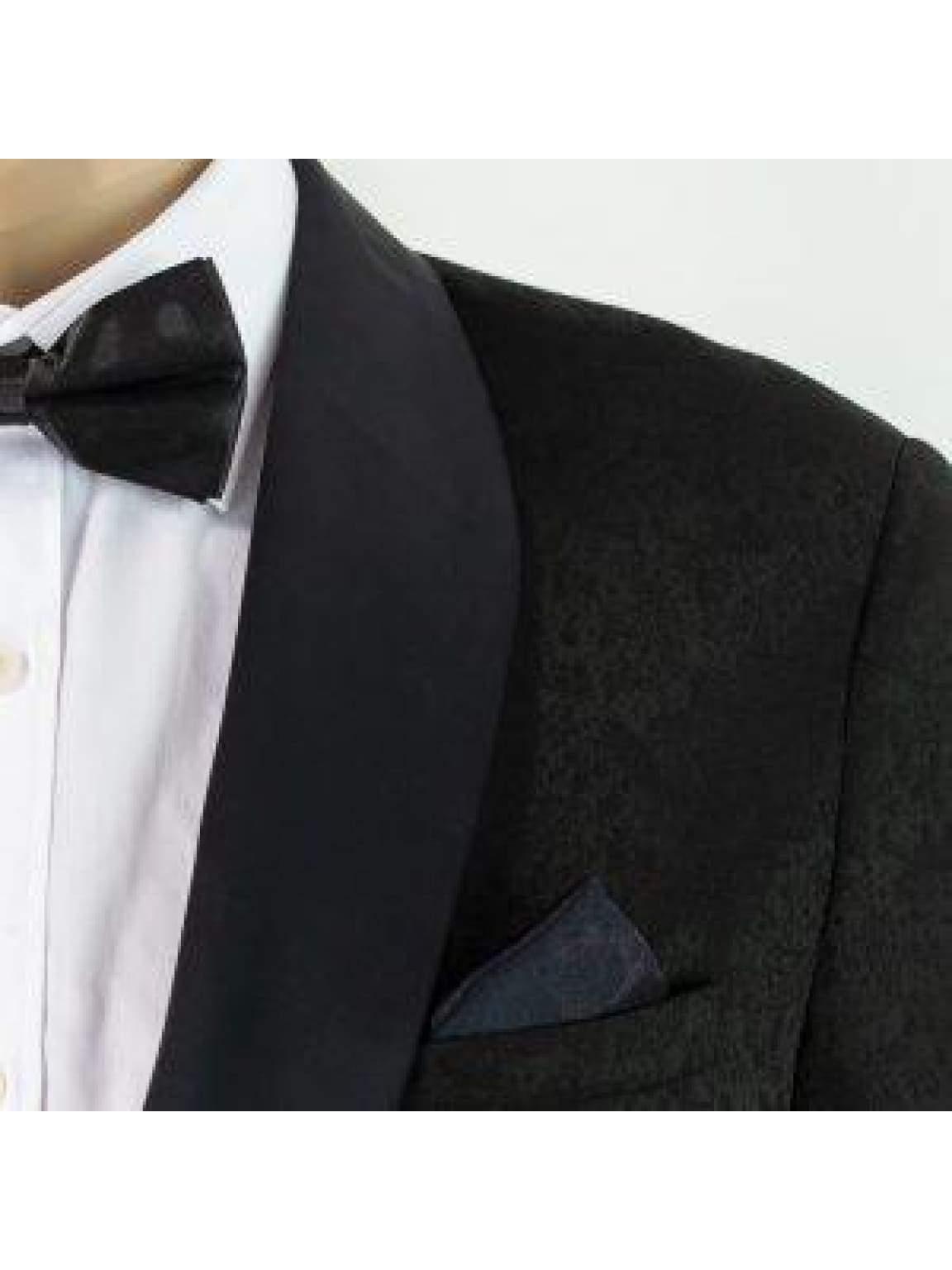 Cavani Bella 2 Piece Black Slim Fit Tweed Suit - Suit & Tailoring