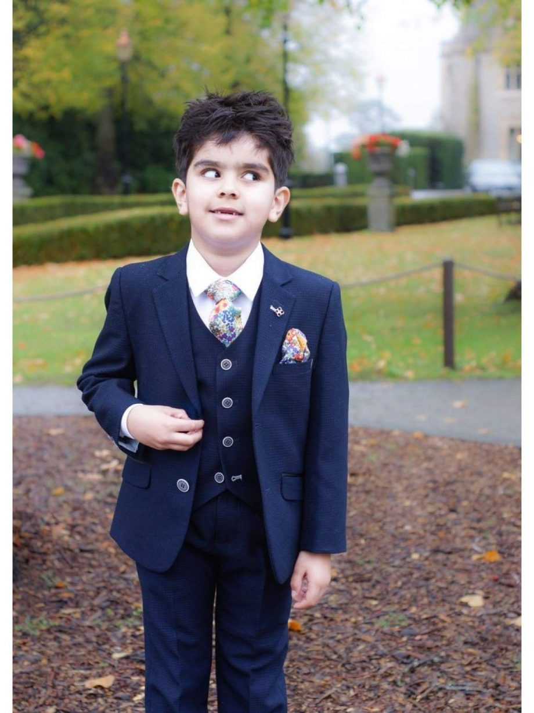Cavani Boys Radley 3 Piece Navy Slim Fit Suit - Suit & Tailoring
