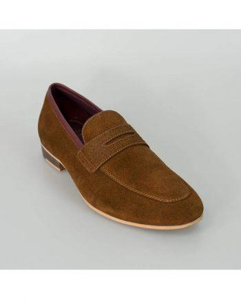 Cavani Branco Mens Tan Loafers - Loafers