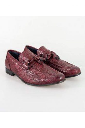 Cavani Brindisi Dark Red Shoe - Shoes