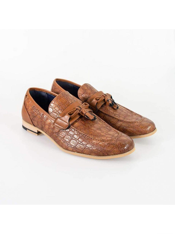 Cavani Brindisi Light Brown Mens Shoe - UK7 | EU41 - Shoes