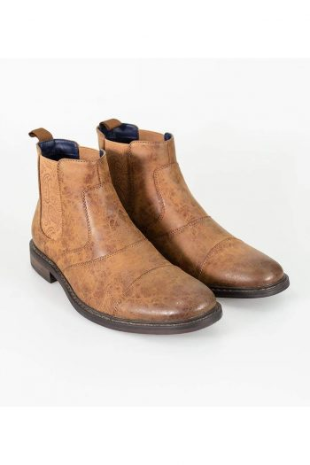 Cavani Bristol Tan Mens Leather Boots - UK7 | EU41 - Boots