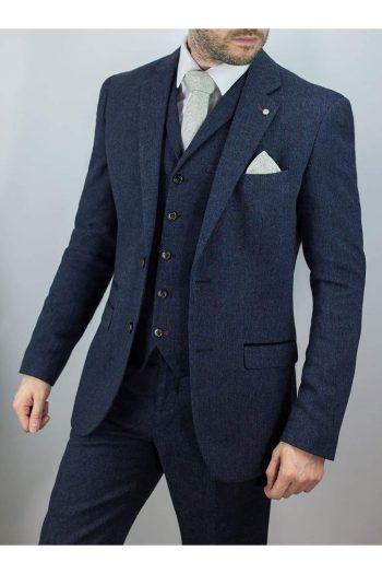 Cavani Burnaby Mens Tweed Check Suit - 36R / 30R - Suit & Tailoring