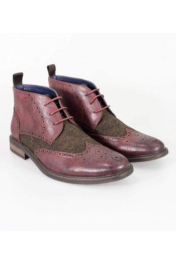 Cavani Curtis Bordo Mens Leather Boots - UK7   EU41 - Boots