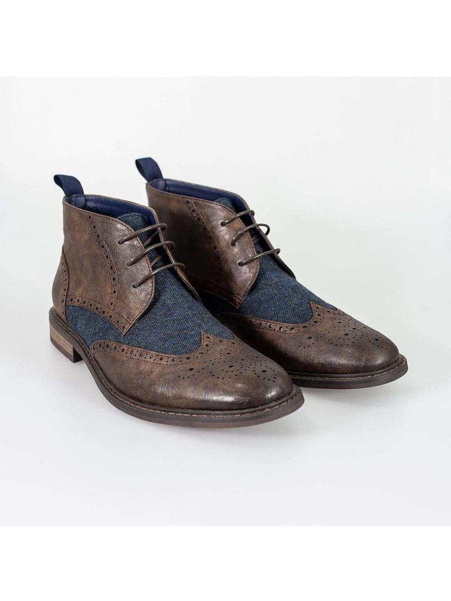 Cavani Curtis Brown Mens Leather Boots - UK7 | EU41 - Boots