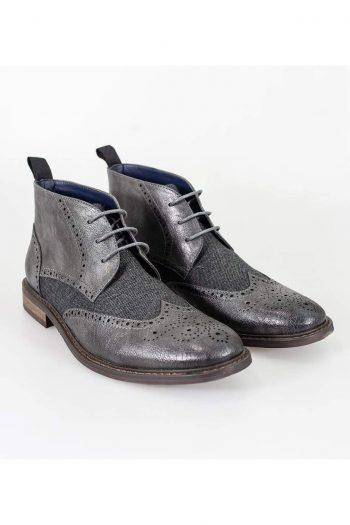 Cavani Curtis Grey Mens Leather Boots - UK7 | EU41 - Boots