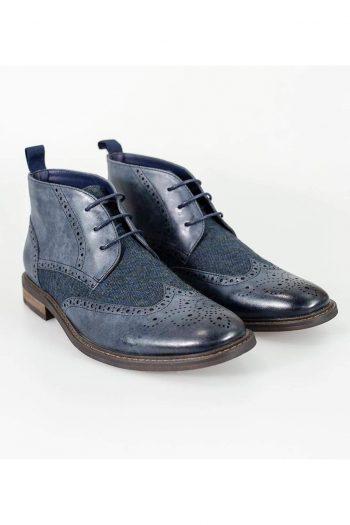 Cavani Curtis Navy Mens Leather Boots - UK7   EU41 - Boots