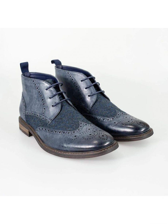 Cavani Curtis Navy Mens Leather Boots - UK7 | EU41 - Boots