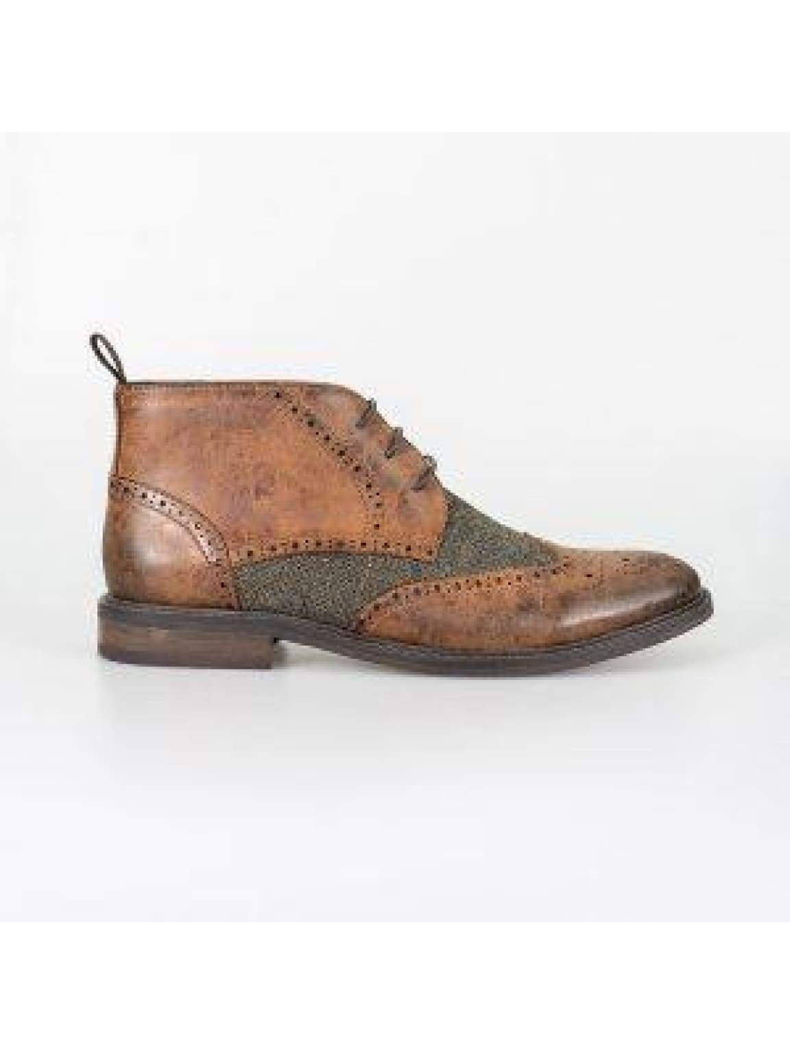 Cavani Curtis Tan Mens Leather Boots - Boots