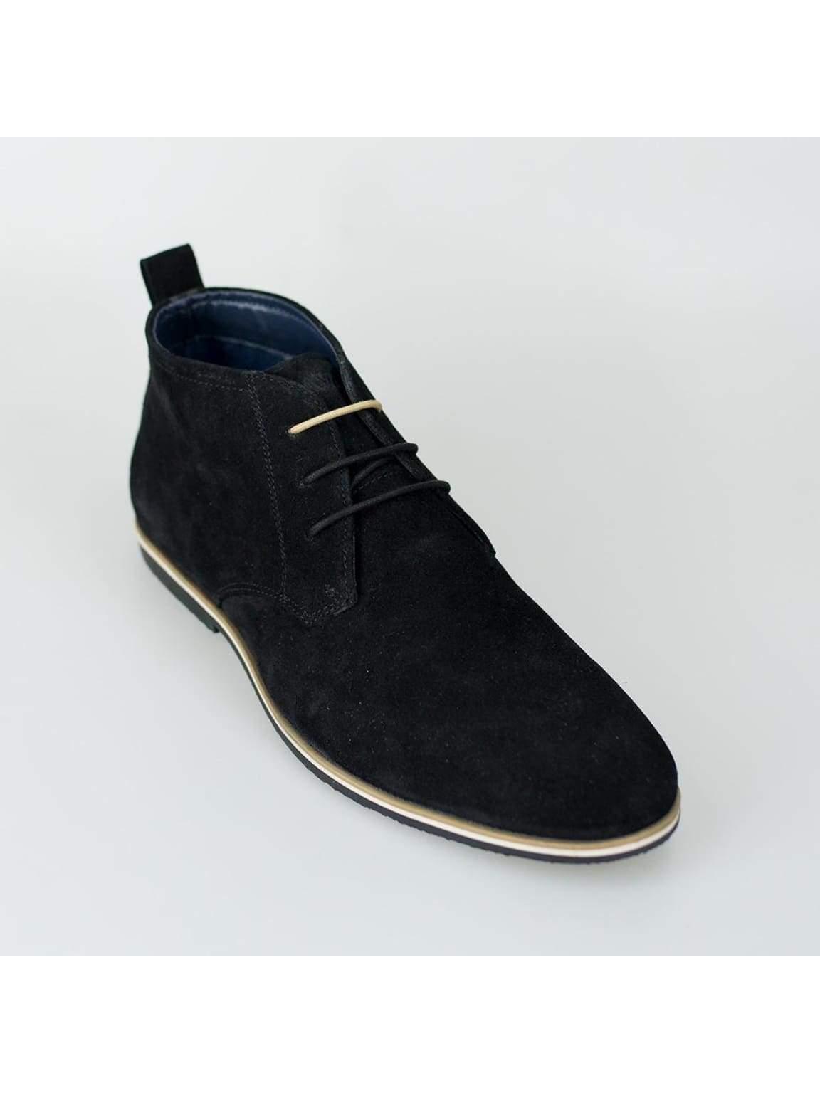 Cavani Desert Mens Black Suede Boots - Boots