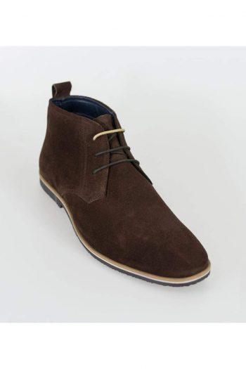 Cavani Desert Mens Brown Suede Boots - Boots
