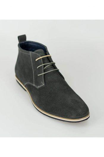 Cavani Desert Mens Grey Suede Boots - Boots
