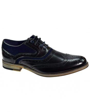 Cavani Ethan Black Mens Leather Shoes - UK7 | EU41 - Shoes