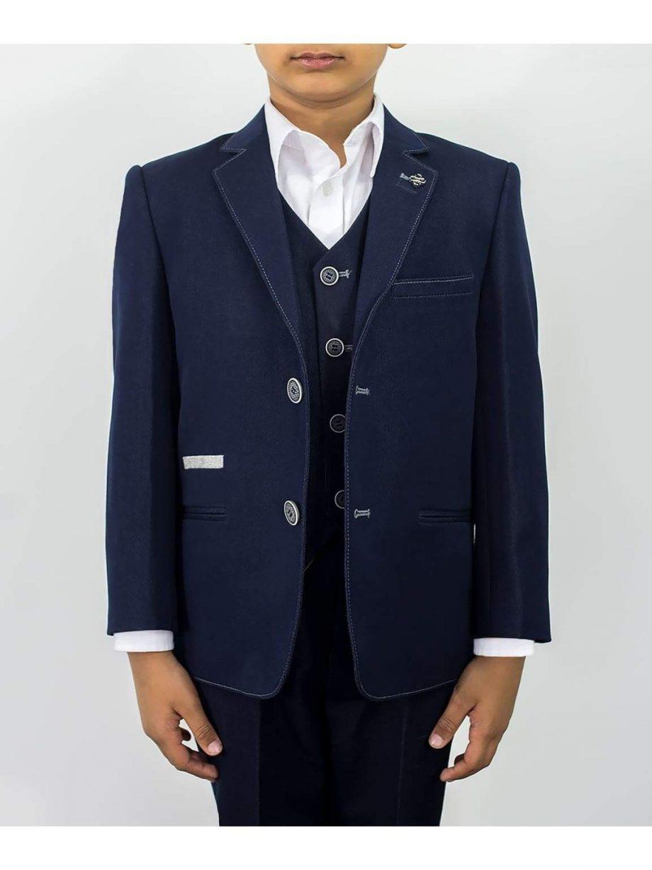 Cavani Fabian Boys Three Piece Navy Slim Fit Suit - 1 YEAR - Suit & Tailoring