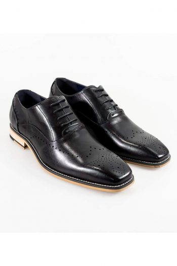 Cavani Fabian Mens Black Shoe - UK7 | EU41 - Shoes