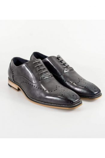 Cavani Fabian Mens Grey Shoe - UK7 | EU41 - Shoes