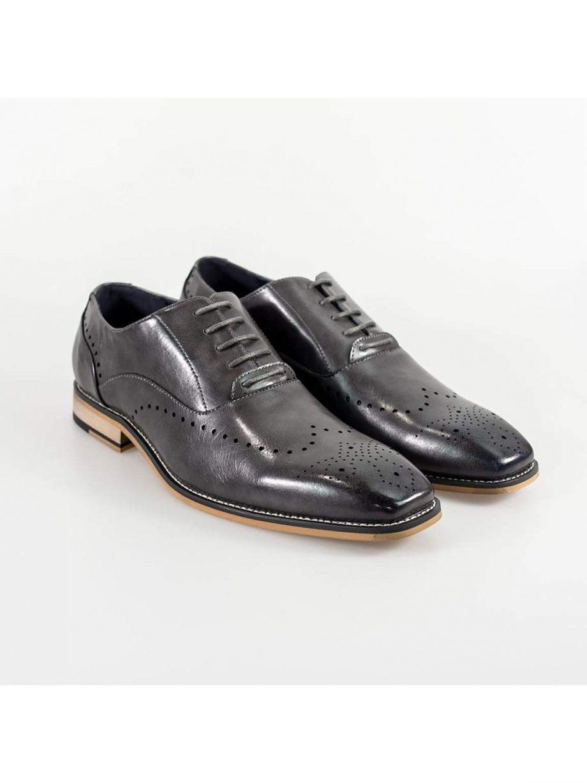 Cavani Fabian Mens Grey Shoe - UK7   EU41 - Shoes