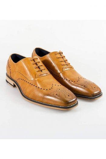 Cavani Fabian Mens Tan Shoe - UK7 | EU41 - Shoes