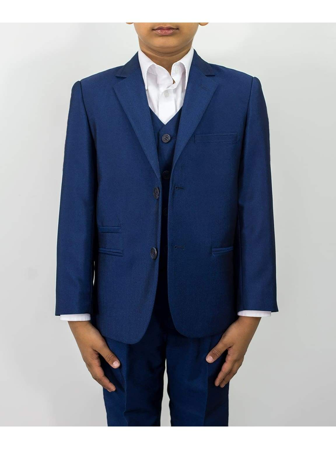 Cavani Ford Boys Three Piece Royal Blue Slim Fit Suit - Suit & Tailoring