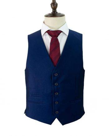 Cavani Ford Royal Blue Tweed Waistcoat - 36 - Suit & Tailoring
