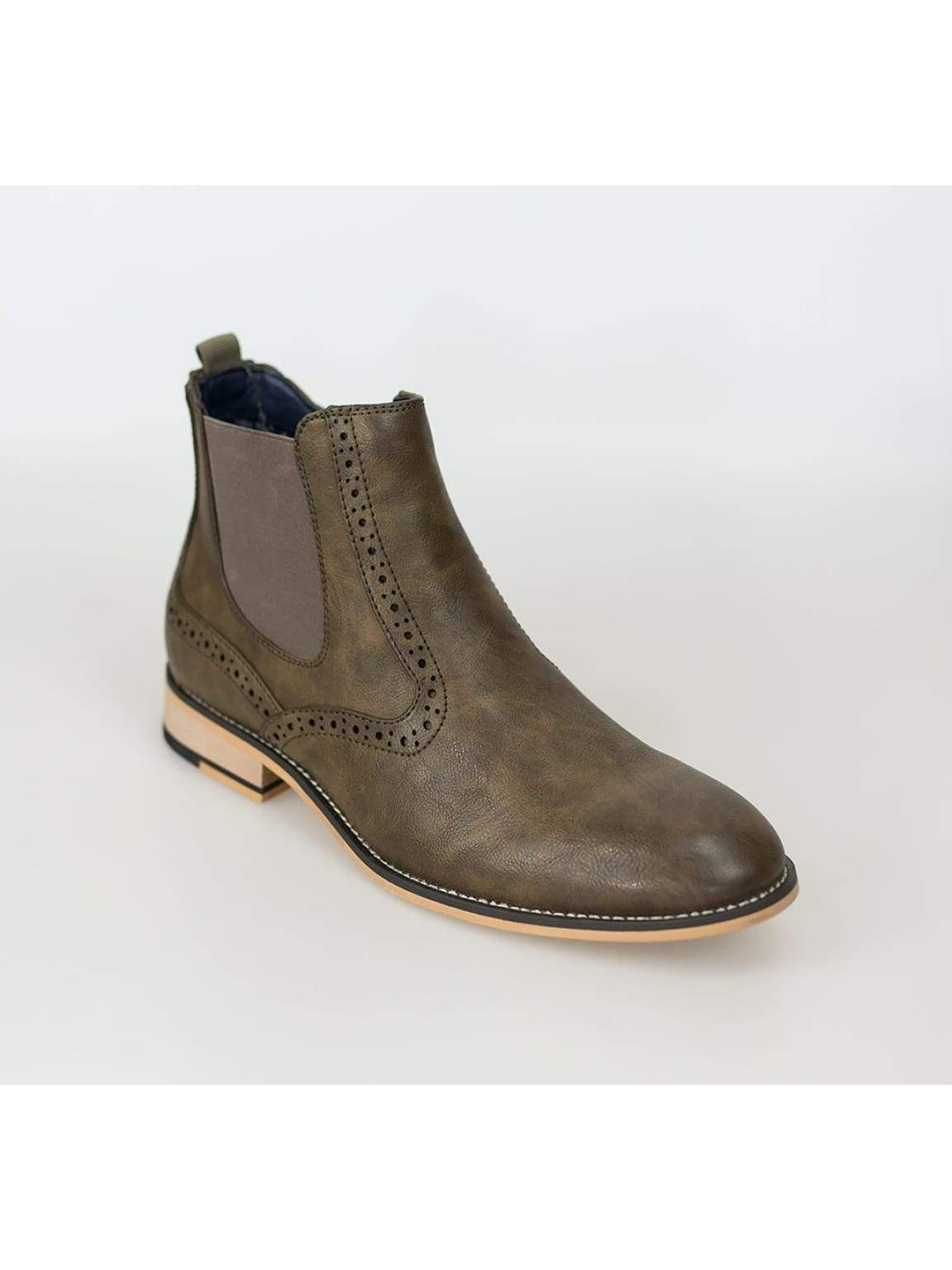 Cavani Fox Brown Mens Leather Boots - Boots