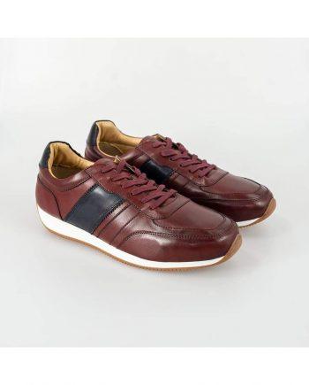 Cavani Fraser Bordo/Navy Trainers - UK7 | EU41 - Shoes