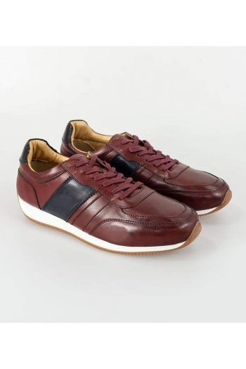 Cavani Fraser Bordo/Navy Trainers - UK7 | EU41 - Shoes