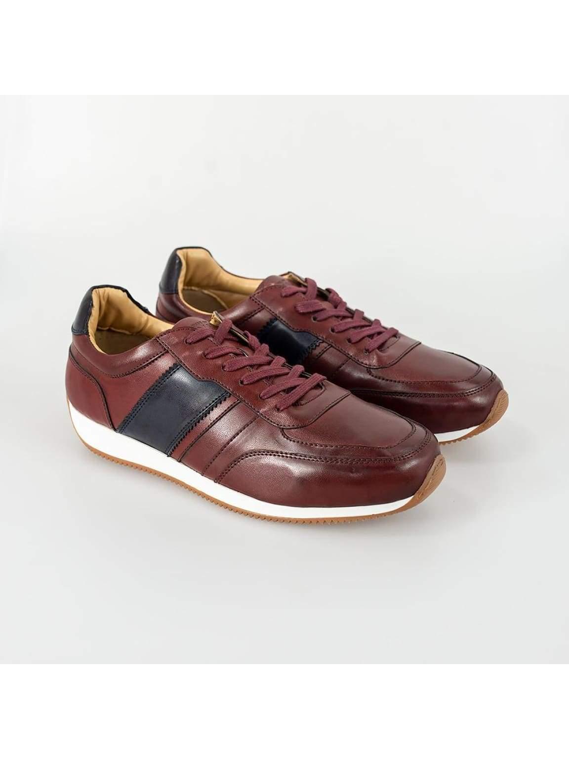 Cavani Fraser Bordo/Navy Trainers - UK7   EU41 - Shoes