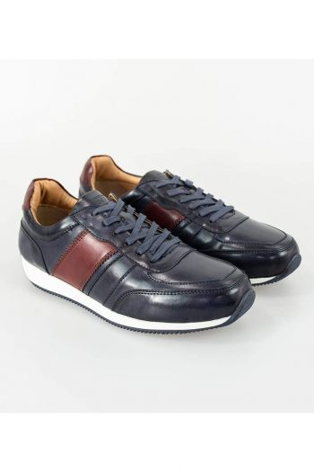 Cavani Fraser Navy/Bordo Trainers - UK7 | EU41 - Shoes