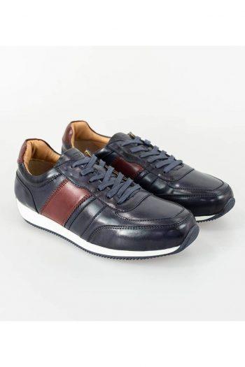 Cavani Fraser Navy/Bordo Trainers - UK7 | EU41 - Shoes