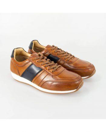 Cavani Fraser Tan/Navy Trainers - UK7 | EU41 - Shoes