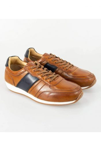 Cavani Fraser Tan/Navy Trainers - UK7 | EU41 - Shoes