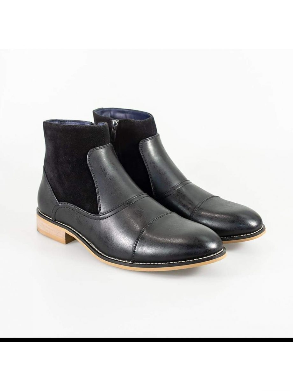 Cavani Halifax Black Mens Leather Boots - UK7 | EU41 - Boots