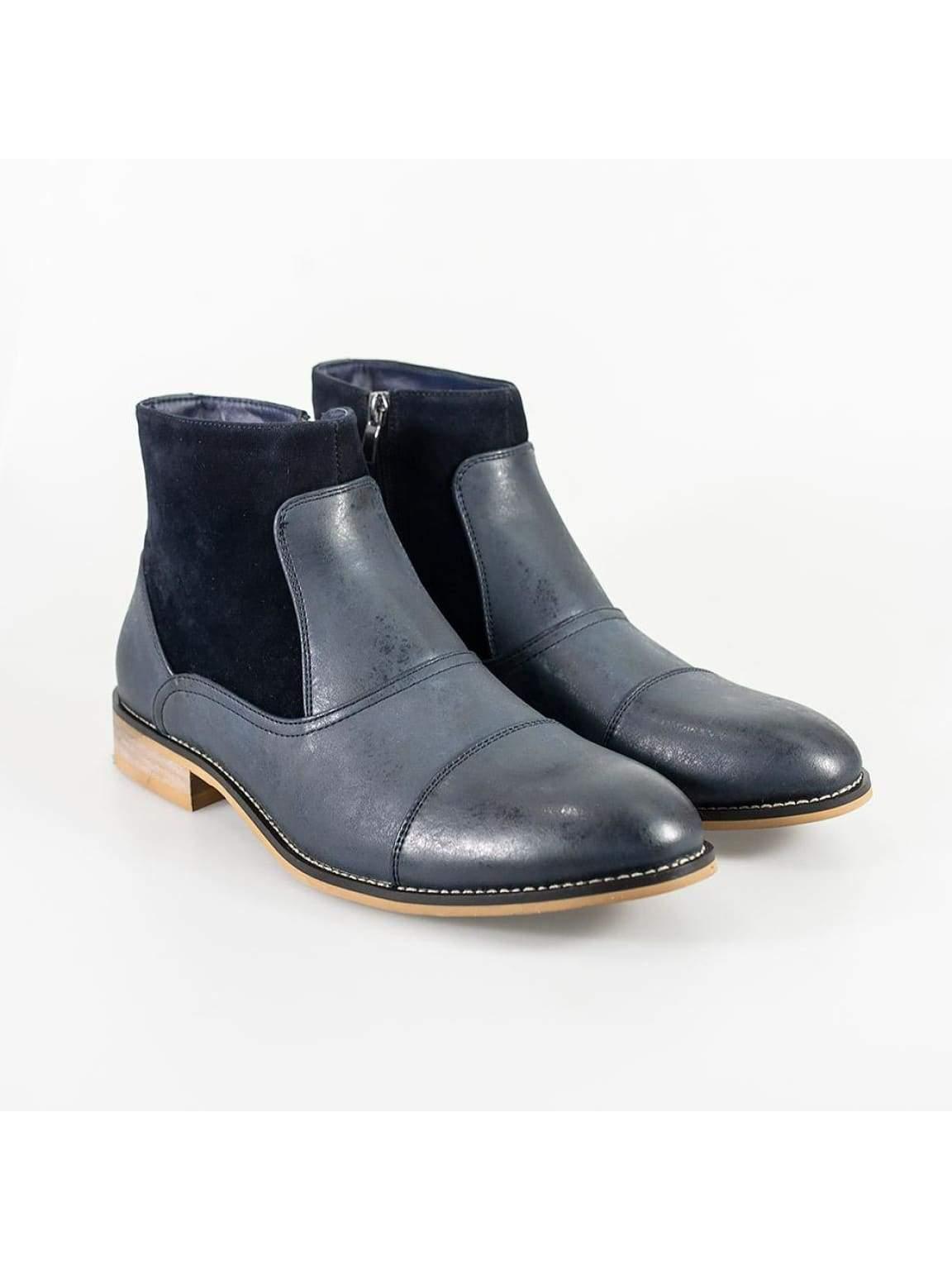 Cavani Halifax Navy Mens Leather Boots - UK6 | EU41 - Boots