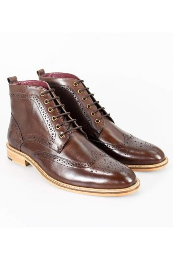 Cavani Holmes Brown Mens Leather Boots - UK7 | EU41 - Boots