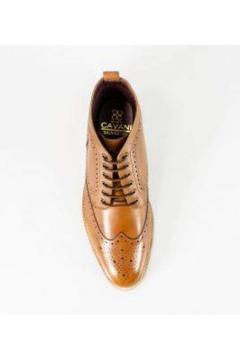 Cavani Holmes Tan Mens Leather Boots - Boots